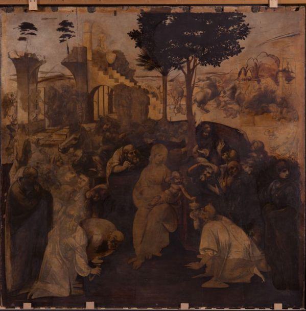 Leonardo da Vinci. Adorazione dei Magi, the restoration.