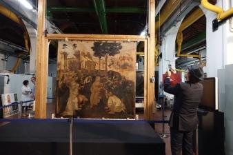 Leonardo da Vinci. Adorazione dei Magi