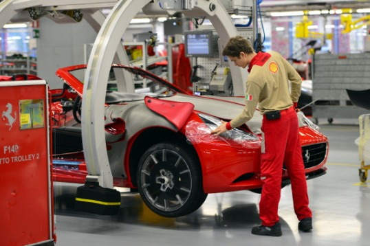 ITALY-AUTO-TRANSPORT-FERRARI-FACTORY