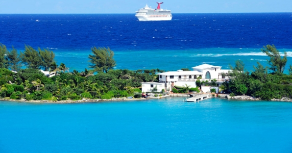 Cruise Ship (celebrity) approaching Nassau Bahamas